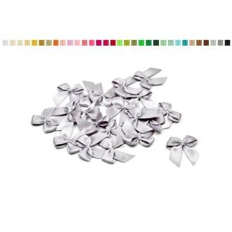 Sachet de 20 nœuds en satin de belle qualite gris 012