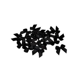 Sachet de 20 nœuds en satin de belle qualite noir 030