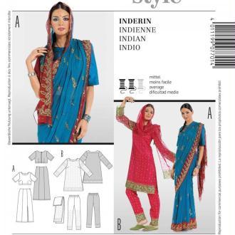 Patron déguisement femme indienne, Burda 7701
