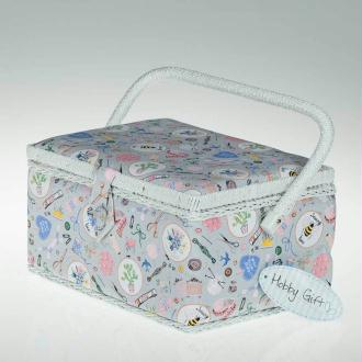 Boite à couture rectangle tissu sewing bee - Taille M