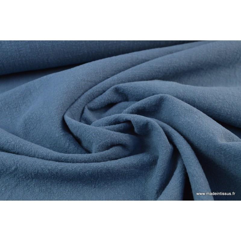 tissu lin lav bleu jean tissu lin creavea. Black Bedroom Furniture Sets. Home Design Ideas