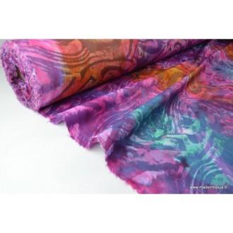 Toile coton dessin 2605 batik01  100% coton 135cm 110gr/m²x1m