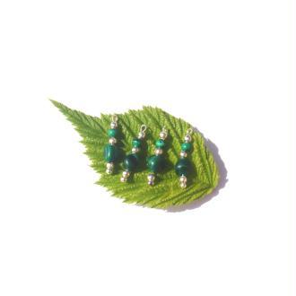 Malachite multicolore : 4 MICRO breloques 2 CM de hauteur x 5/6 MM