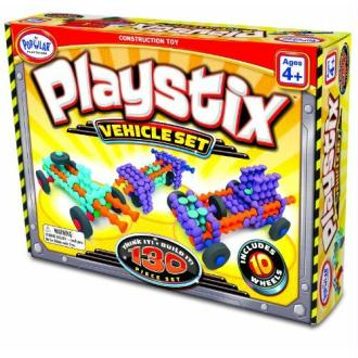 Popular Playthings - 58126 - Jeux De Construction - Playstix Véhicules - 130 Pièces - Multicolore