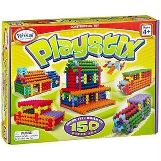 Popular Playthings - 58112 - Jeux De Construction - Playstix - 150 Pièces - Multicolore