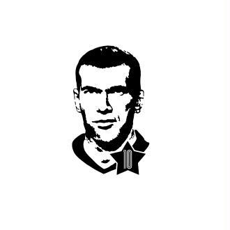 Flex Thermocollant Zinédine Zidane – 25 cm
