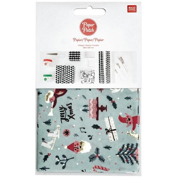 Papier Paper Patch Noël - Noël Classique - 30 x 42 cm - 3 pcs - Photo n°1