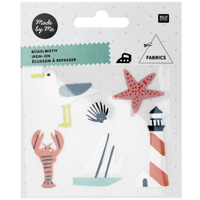 Stickers Flex thermocollant Made by me Rico Design - Bord de mer - 6 pcs - Photo n°1