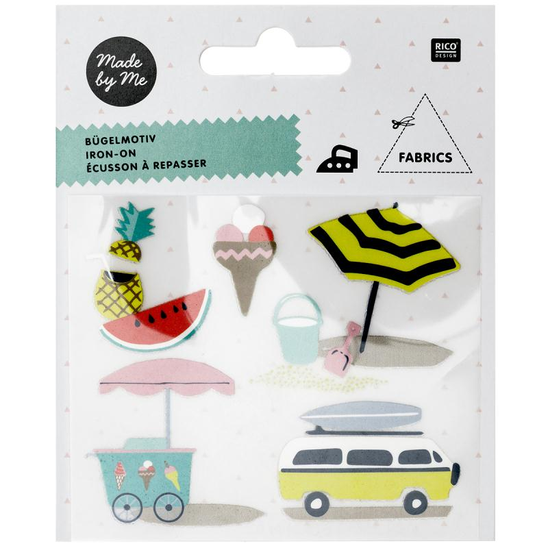 Stickers Flex thermocollant Made by me Rico Design - Eté - 5 pcs - Photo n°1