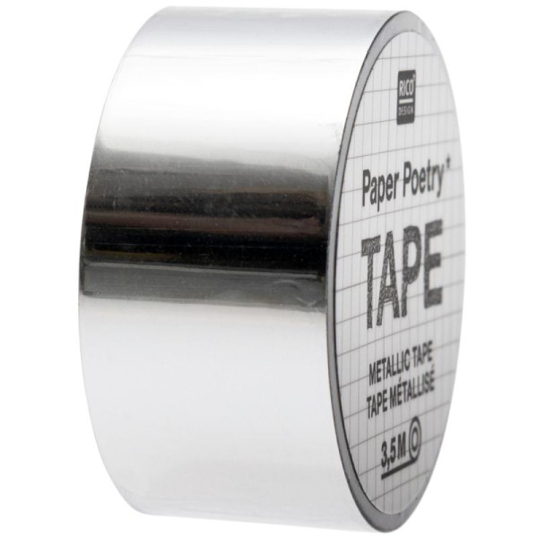 Masking tape Metallic - Argenté - 2 cm x 3,5 m - Photo n°1