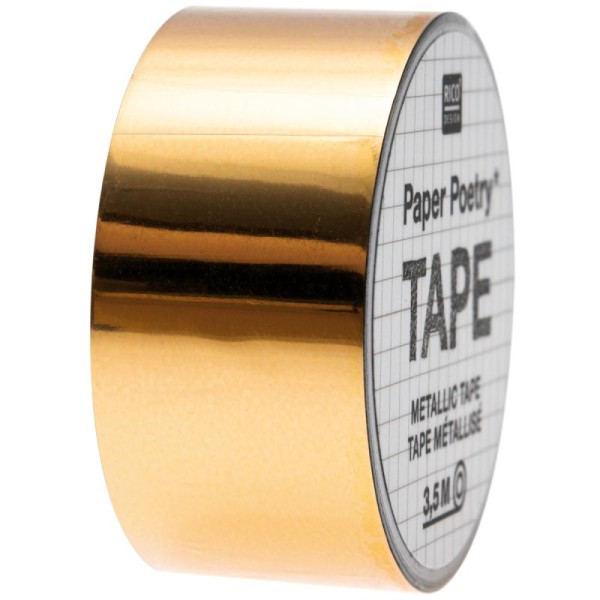 Masking tape Metallic - Doré - 2 cm x 3,5 m - Photo n°1