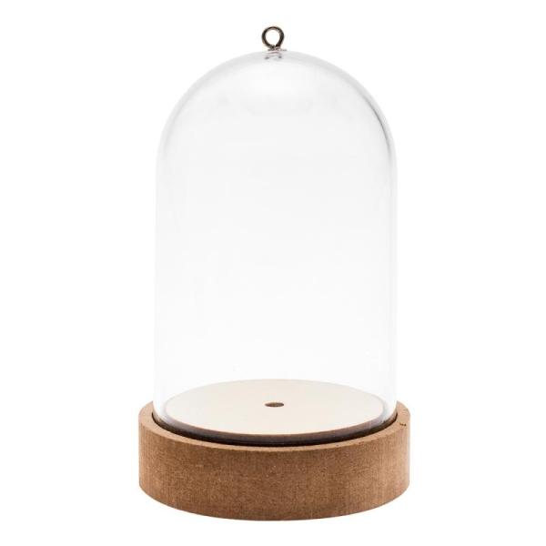 Cloche en plastique avec socle - 7 x 10,5 cm - Photo n°1