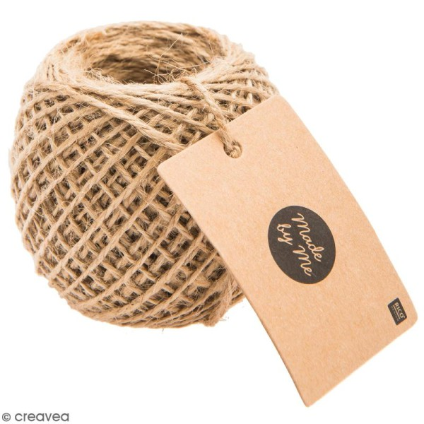 Ficelle de jute 2 mm - Naturel - 50 m - Photo n°1