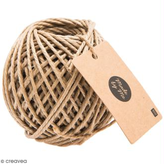 Ficelle de jute enduite 3 mm - Naturel - 25 m