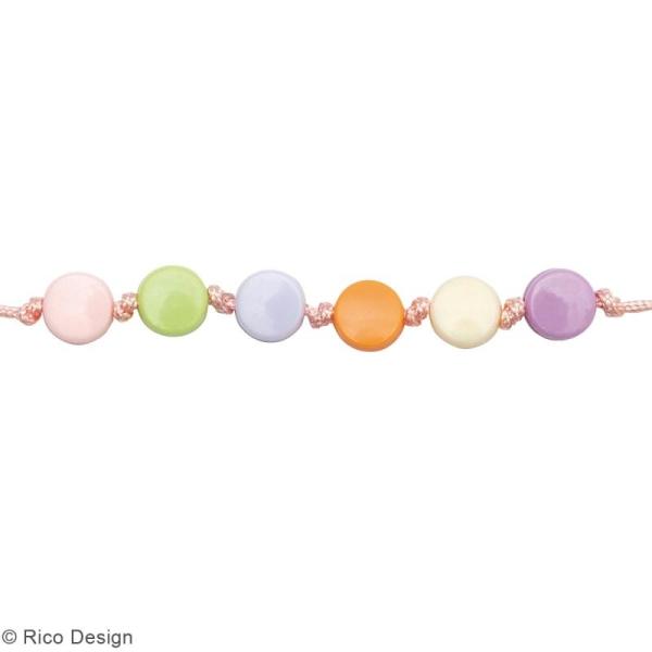 Assortiment de perles rondes en plastique - Pastel - Environ 165 pcs - Photo n°2