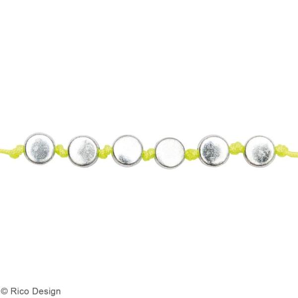 Assortiment de perles rondes en plastique - Argenté - Environ 165 pcs - Photo n°2