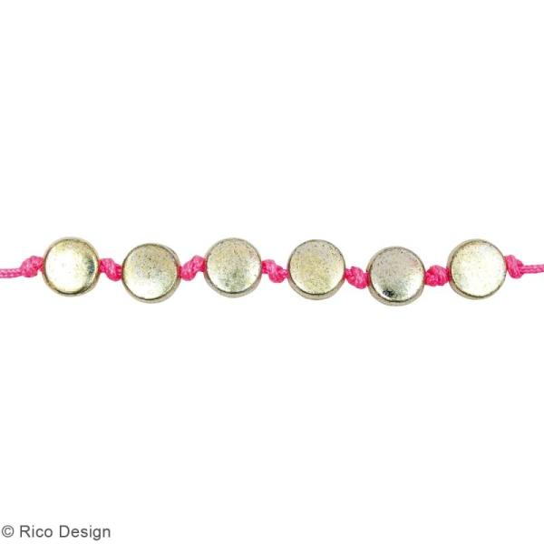 Assortiment de perles rondes en plastique - Doré - Environ 165 pcs - Photo n°2