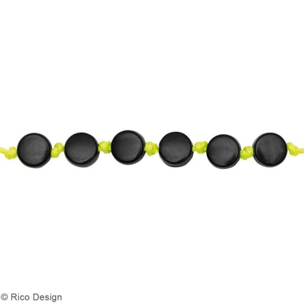 Assortiment de perles rondes en plastique - Noir - Environ 165 pcs - Photo n°2