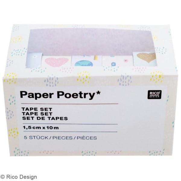 Set de masking tape - Travel the world - 1,5 cm x 10 m - 5 pcs - Photo n°2