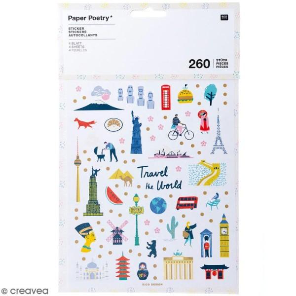 Stickers - Travel the world - 260 pcs - Photo n°1