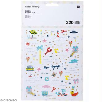 Stickers - Bord de mer - 220 pcs