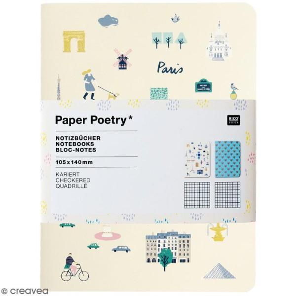 Petits carnets de notes A6 - Travel the world - 10,5 x 14 cm - 2 pcs - Photo n°1