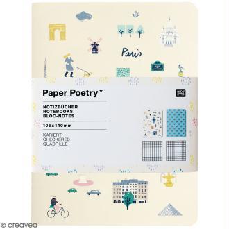 Petits carnets de notes A6 - Travel the world - 10,5 x 14 cm - 2 pcs