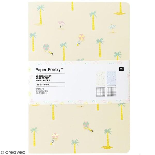 Petits carnets de notes A5 - Bord de mer - 14,5 x 21 cm - 2 pcs - Photo n°1