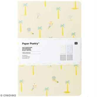 Petits carnets de notes A5 - Bord de mer - 14,5 x 21 cm - 2 pcs