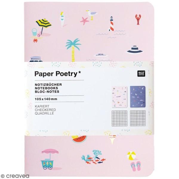 Petits carnets de notes A6 - Bord de mer - 10,5 x 14 cm - 2 pcs - Photo n°1