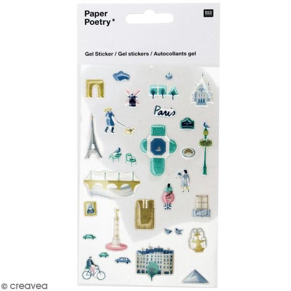 Stickers gel Rico Design - Paris - 31 pcs - Photo n°1