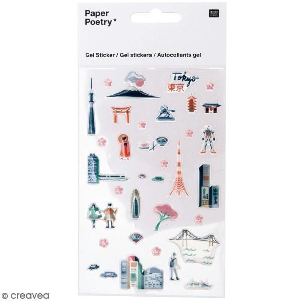 Stickers gel Rico Design - Tokyo - 35 pcs - Photo n°1