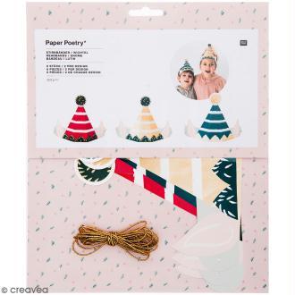 Bandeau en papier Rico Design - Lutin de Noël - 6 pcs