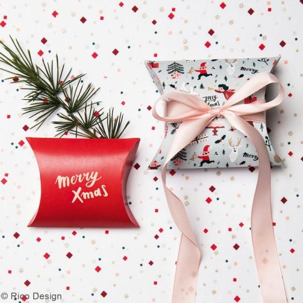 Lot de pochettes cadeaux - Noël Classique - 2 tailles - 6 pcs - Photo n°2