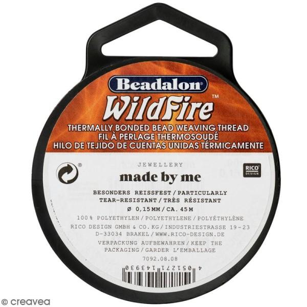 Fil nylon tressé Wildfire - Noir - 0,15 mm - 45 m - Photo n°1