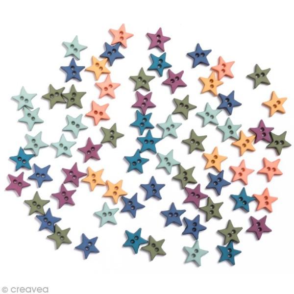 Bouton décoratif - Poudre d'étoiles - Etoiles romance x 10 gr - Photo n°1