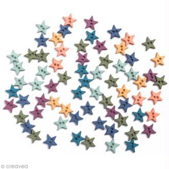 Bouton décoratif - Poudre d'étoiles - Etoiles romance x 10 gr