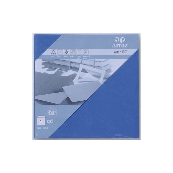 Enveloppe carrée 160x160 paquet de 5 bleu royal - Photo n°1