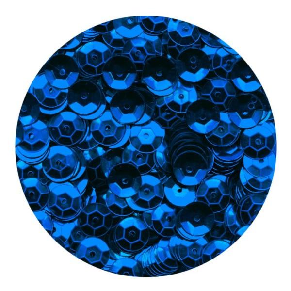 Sequins 6mm Bleu x 500 - Photo n°1