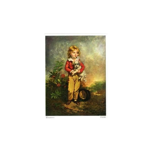Image 3D - augusta 008 - 18x24 - petit garçon avec chien - Photo n°1
