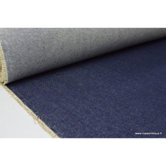 Tissu denim lourd jean  bleu