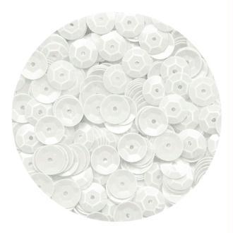 Sequins 6mm Blanc mat x 500