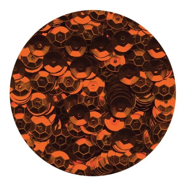 Sequins 6mm Orange x 500 - Photo n°1