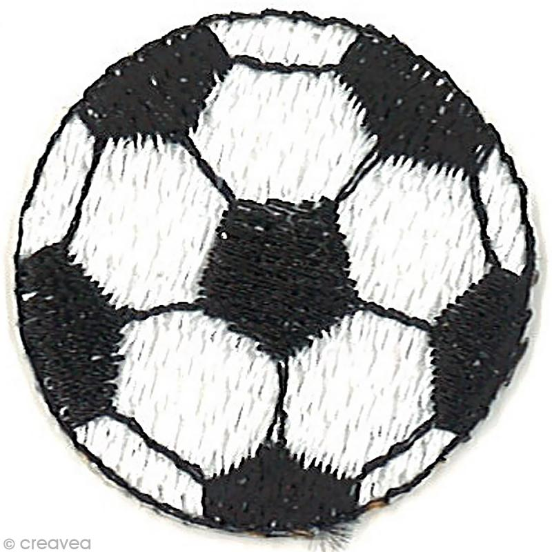 motif thermocollant football ballon de foot 3 x 3 cm motif thermocollant creavea. Black Bedroom Furniture Sets. Home Design Ideas