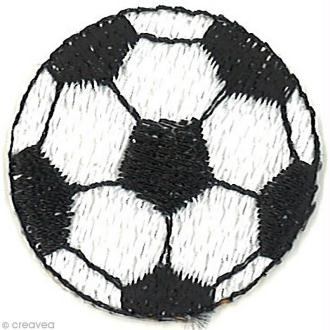 Motif thermocollant Football - Ballon de foot - 3 x 3 cm