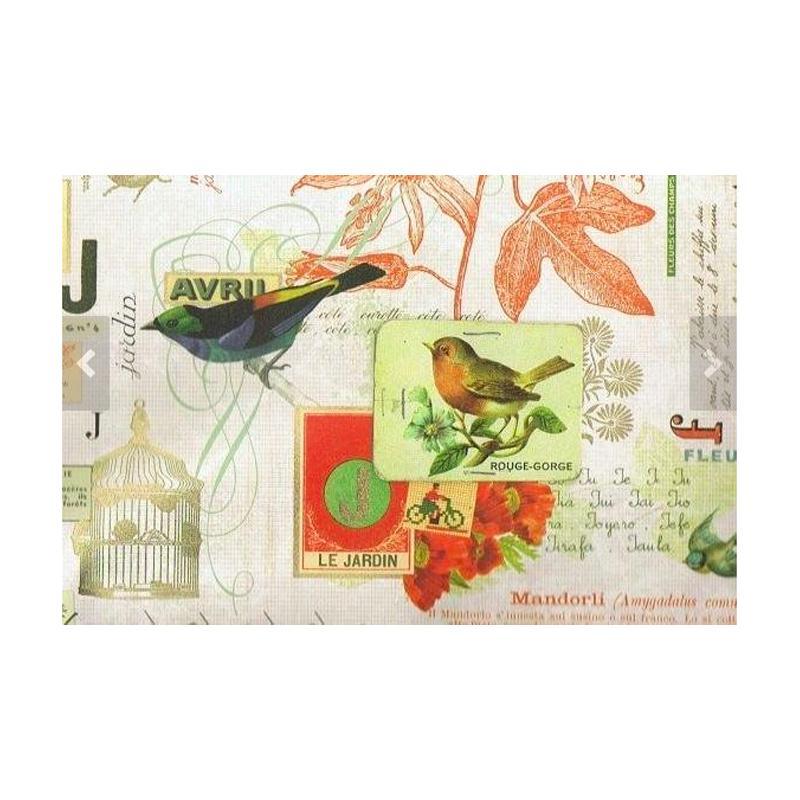 papier rossi les oiseaux fabriqu en italie papiers sp cifiques creavea. Black Bedroom Furniture Sets. Home Design Ideas