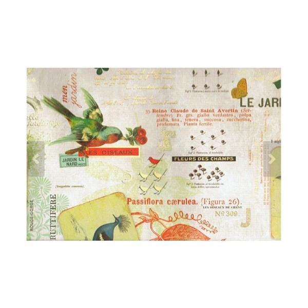 Papier ROSSI - LES OISEAUX - Fabriqué en Italie - Photo n°3
