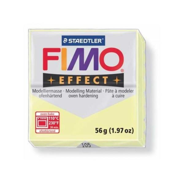 Pâte Fimo effect 56 gr jaune pastel n°105 - 56g - Photo n°1