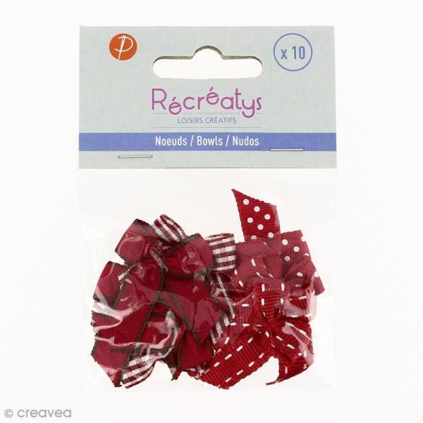 Noeud Recreatys Rouge - Assortiment de 10 pièces - Photo n°2