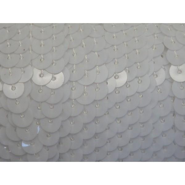 R-2m Ruban Galon Sequin 6mm Blanc Brillant - Photo n°2